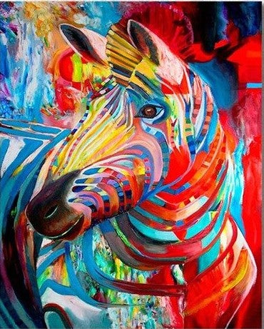 Stunning Abstract Zebra- Animals Paint By Numbers