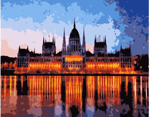 Budapest Parliament Building- Cities Paint By Numbers