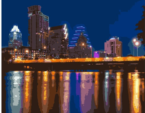 Austin Texas - Cities Paint By Numbers