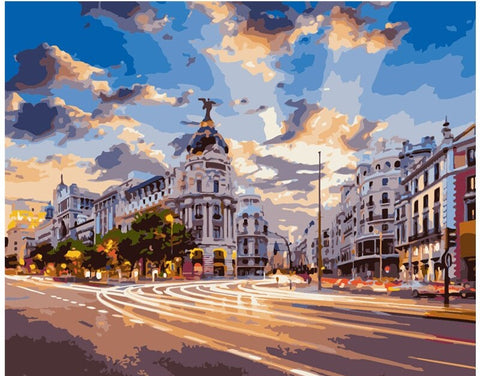 Main Street Madrid - Cities Paint By Numbers