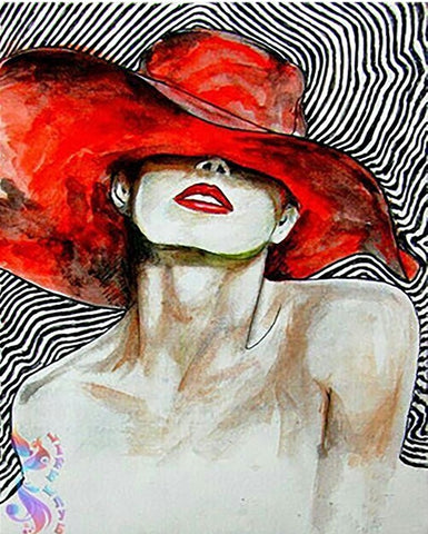 Girl with the Red Hat - People Paint By Numbers