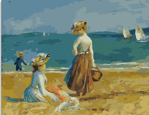 Women on the Beach - People Paint By Numbers