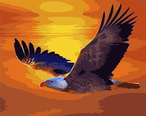 Twilight Eagle - Birds Paint By Numbers