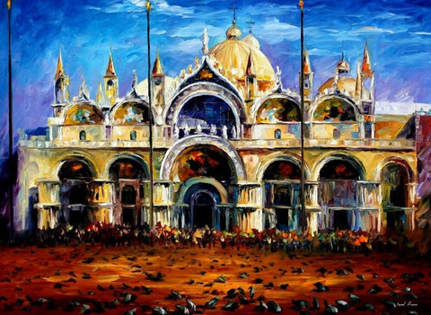 Pigeons in San Marco Square Venice- Cities Paint By Numbers