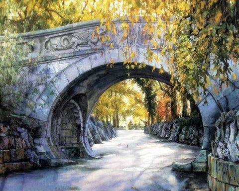 Arch Bridge- Landscape Paint By Numbers