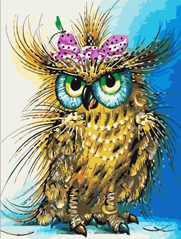 Bow Owl - Birds Paint By Numbers