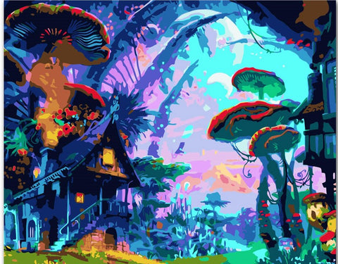 Fairy Tale World - Landscape Paint By Numbers