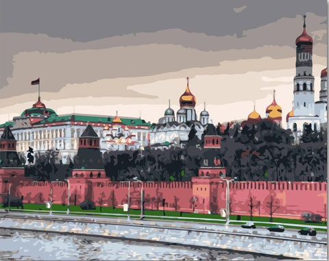 Kremlin Moscow - Cities Paint By Numbers