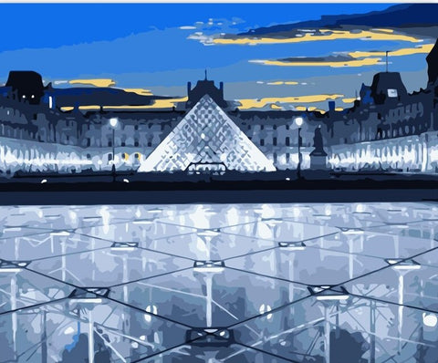 Louvre Museum Paris - Cities Paint By Numbers