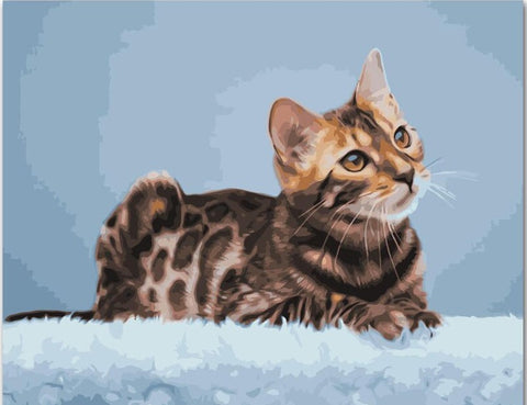 Bengal Cat  - Animals Paint By Numbers