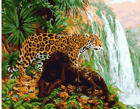 Black and Gold Leopards - Animals Paint By Numbers