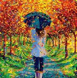 Girl Strolling Spring  - People Paint By Numbers