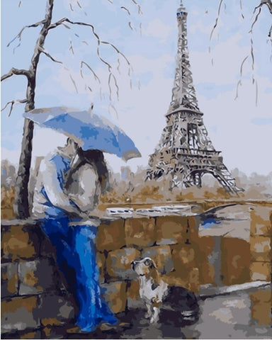 Paris Kiss - Cities Paint By Numbers