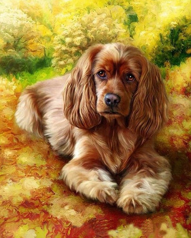 Dog Animals Coloring - DIY Paint By Numbers - Numeral Paint