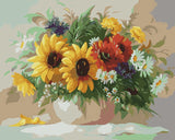 Sunflowers Wall Art Canvas Oil Painting Hand Painted - DIY Paint By Numbers