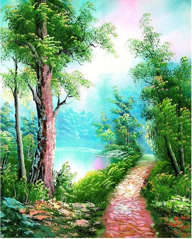 Kits Landscape Picture - DIY Paint By Numbers - Numeral Paint