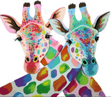 Giraffe Lovers City - DIY Paint By Numbers - Numeral Paint