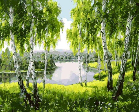 Beautiful Tree  - Landscape Paint By Numbers