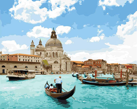 Venice Canal Tour - Cities Paint By Numbers