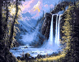 Waterfall - Landscape Paint By Numbers