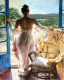Women at a Window - People Paint By Numbers