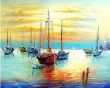 Sailing Boat Seascape - DIY Paint By Numbers