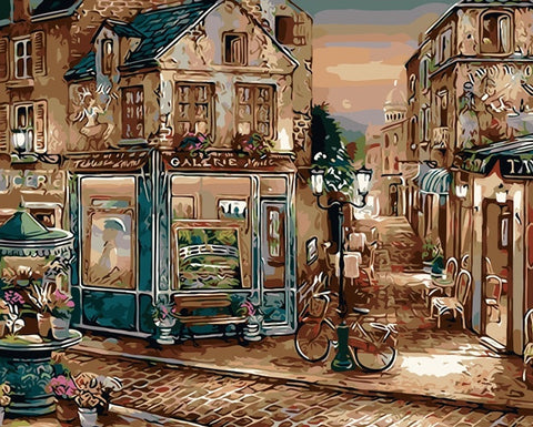 Painting Europe Coffee Shop Art - DIY Paint By Numbers - Numeral Paint