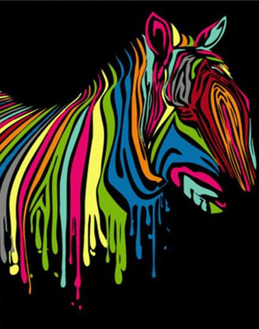 Abstract Zebra Artwork - DIY Paint By Numbers - Numeral Paint