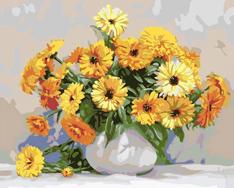 Picture Flowers City - DIY Paint By Numbers - Numeral Paint