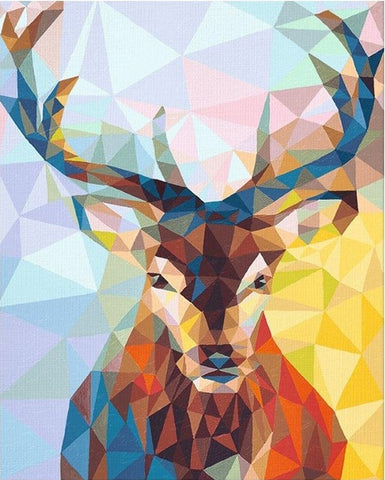 Deer animals acrylic paint - DIY Paint By Numbers - Numeral Paint