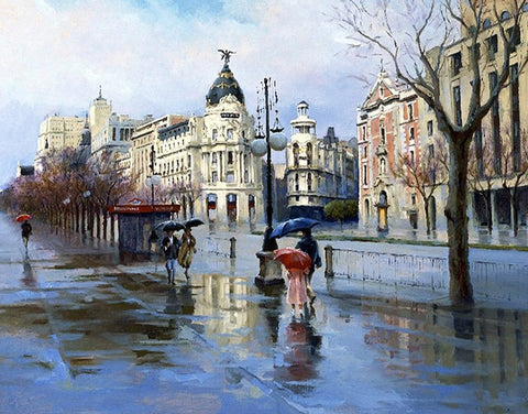 Rain Street London - Cities Paint By Numbers