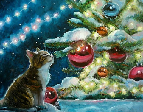 Cat Christmas Bulbs- Animals Paint By Numbers