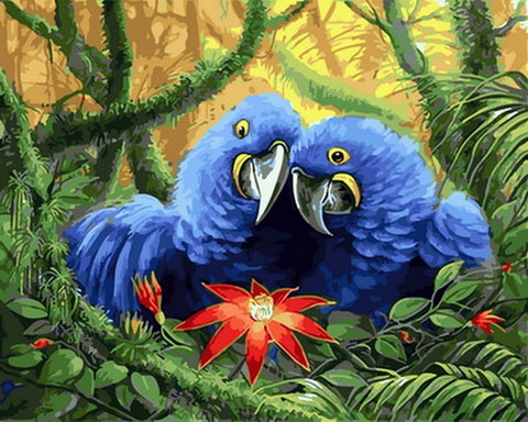 Blue Parrot - Birds Paint By Numbers