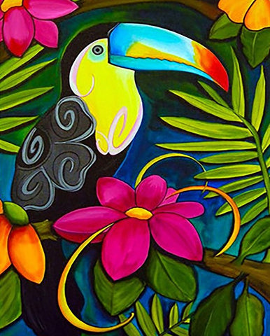 Tattooed Toucan - Birds Paint By Numbers