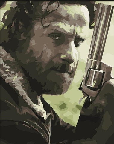 Rick Grimes- People Paint By Numbers