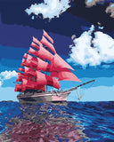 The Pink Ship - DIY Paint By Numbers