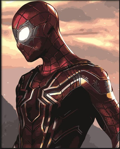 Iron Spiderman- People Paint By Numbers