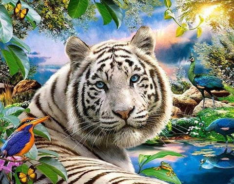 Tropical Tiger- Animals Paint By Numbers