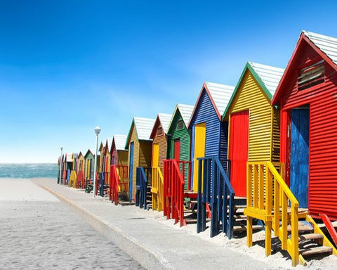 Colorful Cape Town Beach  - Cities Paint By Numbers