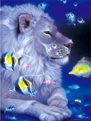 Lion Under the Water - Animals Paint By Numbers