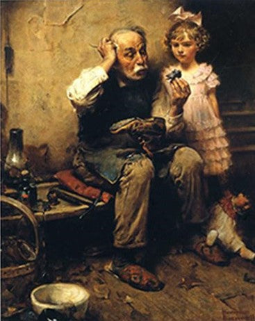 Cobbler With His Grandchildren - People Paint By Numbers