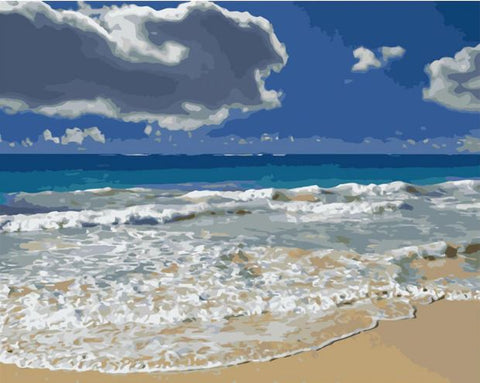 Beach Waves - Seascape Paint By Numbers