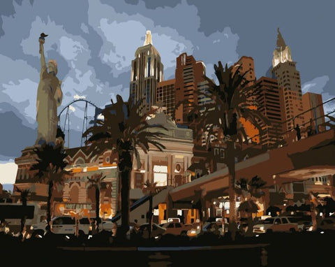 New York Hotel & Casino - Cities Paint By Numbers