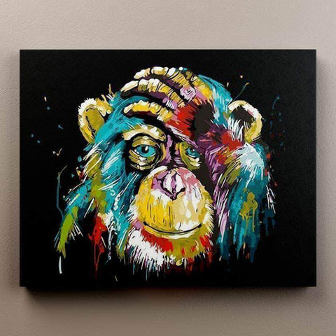 Abstract Chimp - Animals Paint By Numbers