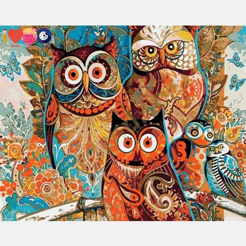 Artistic OWL- Birds Paint By Numbers