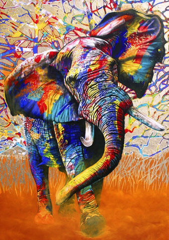 African Bull Elephant - Animals Paint By Numbers