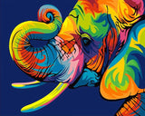 Abstract Elephant - DIY Paint By Numbers - Numeral Paint