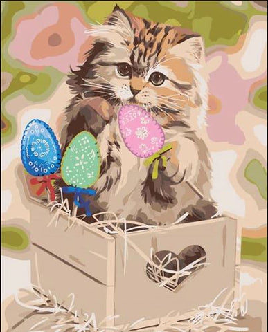 Cat of Magic Box - Animals Paint By Numbers