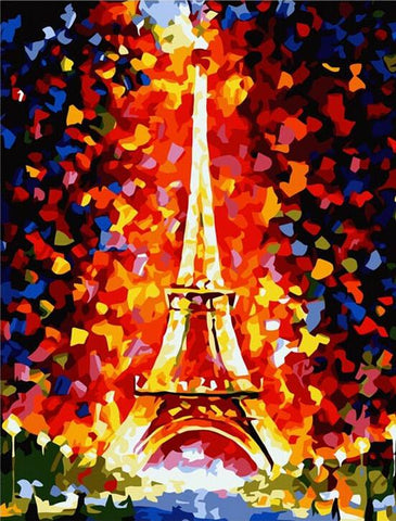 Colorful Eiffel Tower Paris  - Cities Paint By Numbers