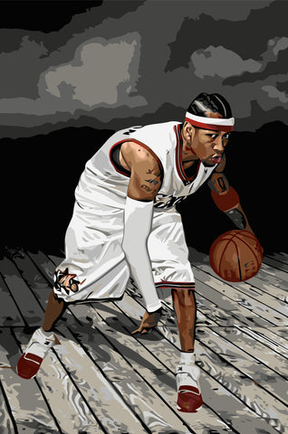 Allen Iverson- People Paint By Numbers